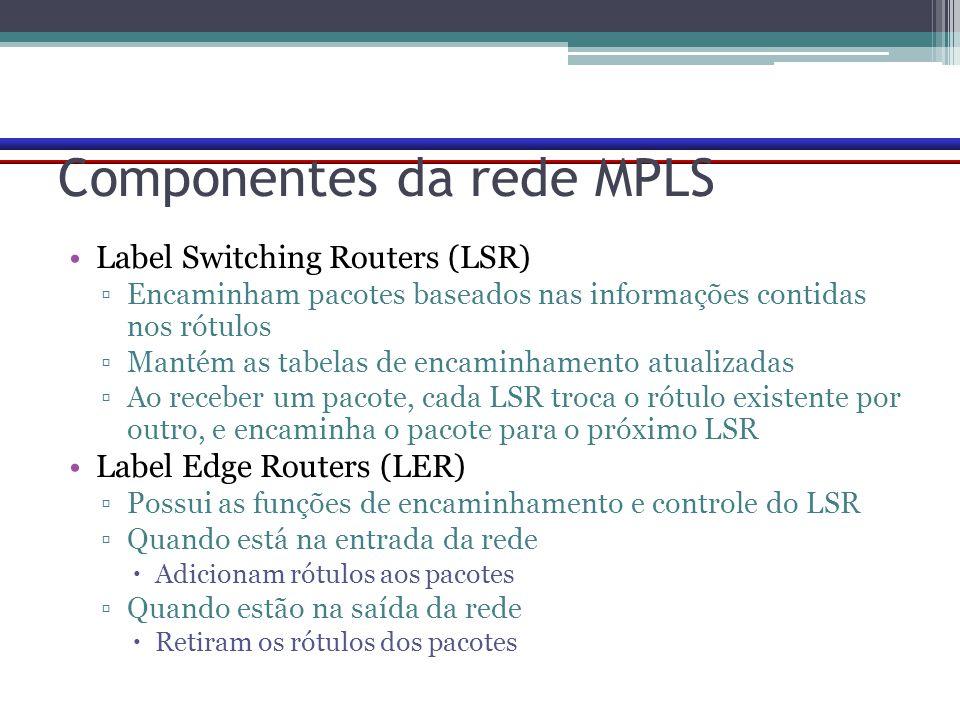 Componentes da rede MPLS