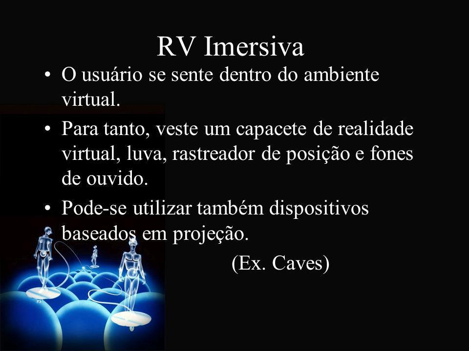 RV Imersiva O usuário se sente dentro do ambiente virtual.