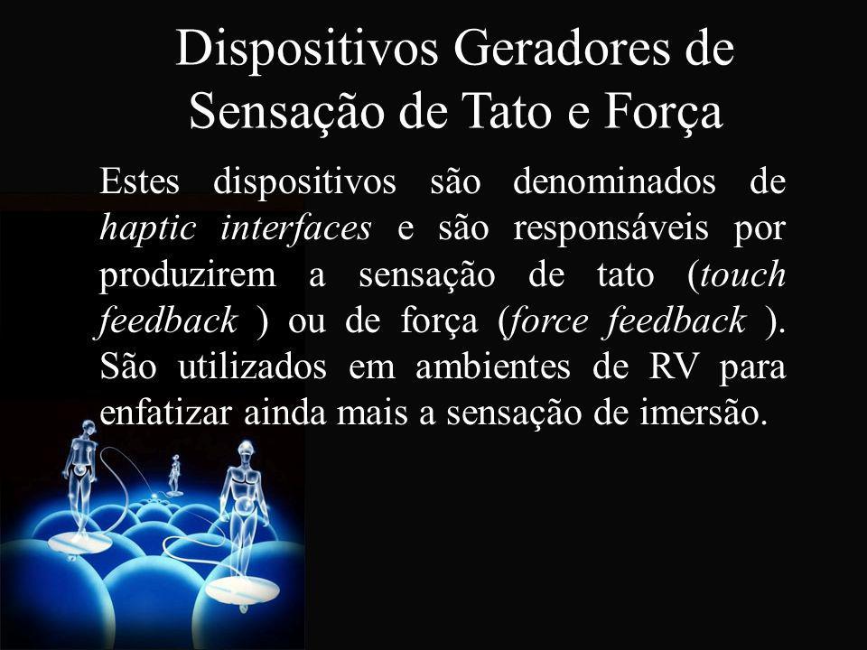 Dispositivos Geradores de Sensação de Tato e Força