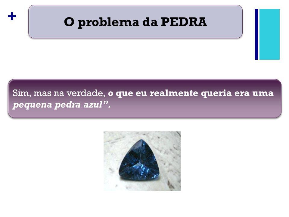 O problema da PEDRA Sim, mas na verdade, o que eu realmente queria era uma pequena pedra azul .