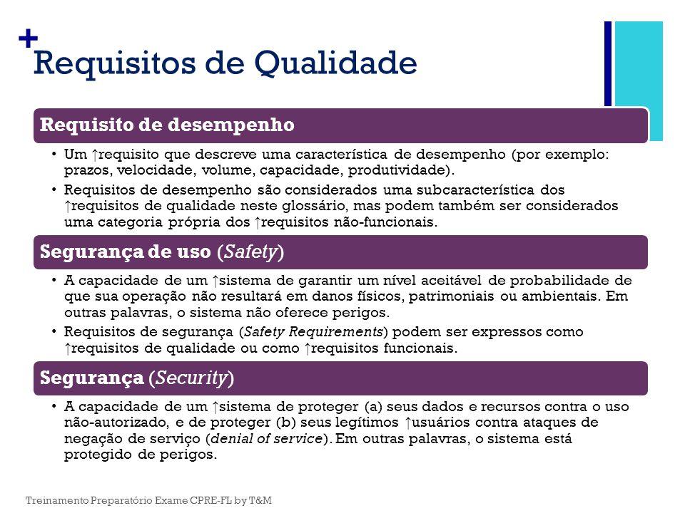 Requisitos de Qualidade
