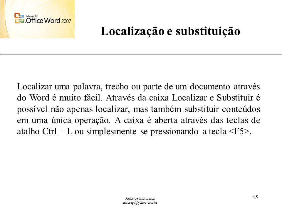 Localização e substituição