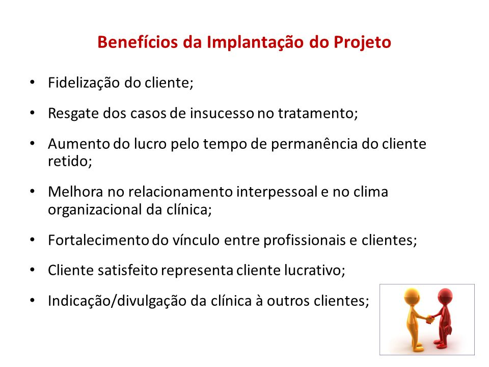 Benefícios da Implantação do Projeto