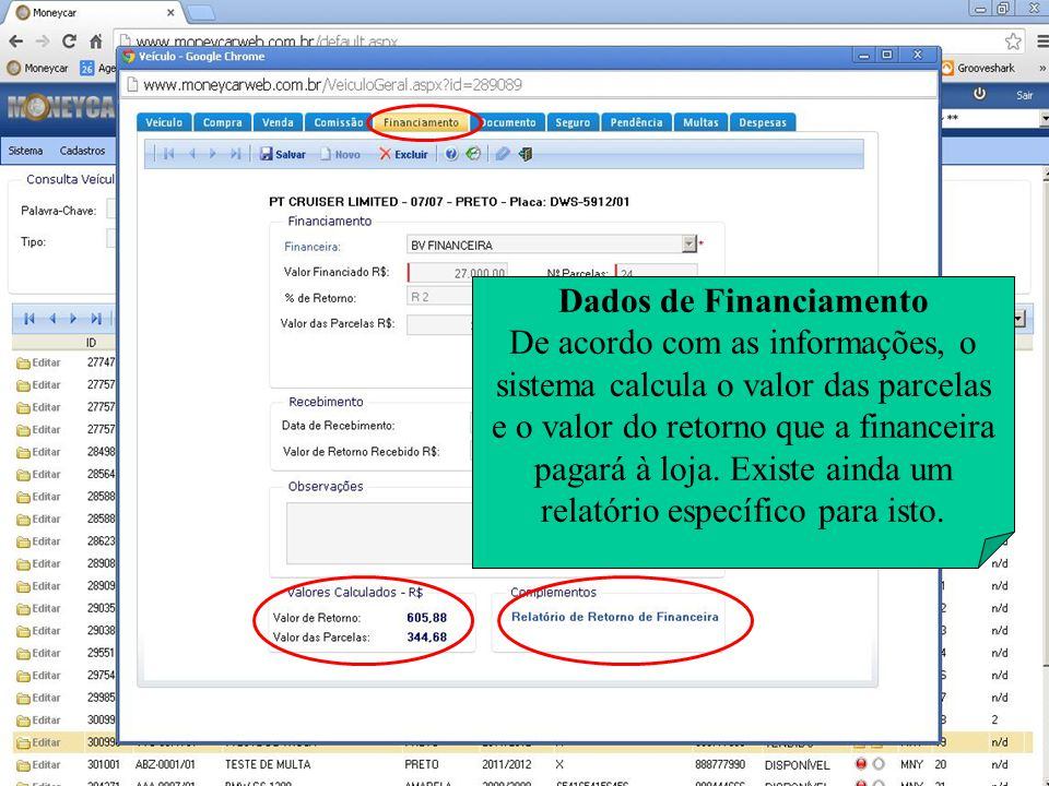 Dados de Financiamento