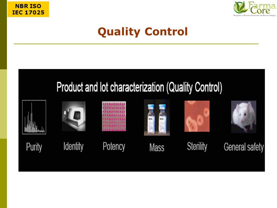 NBR ISO IEC 17025 Quality Control