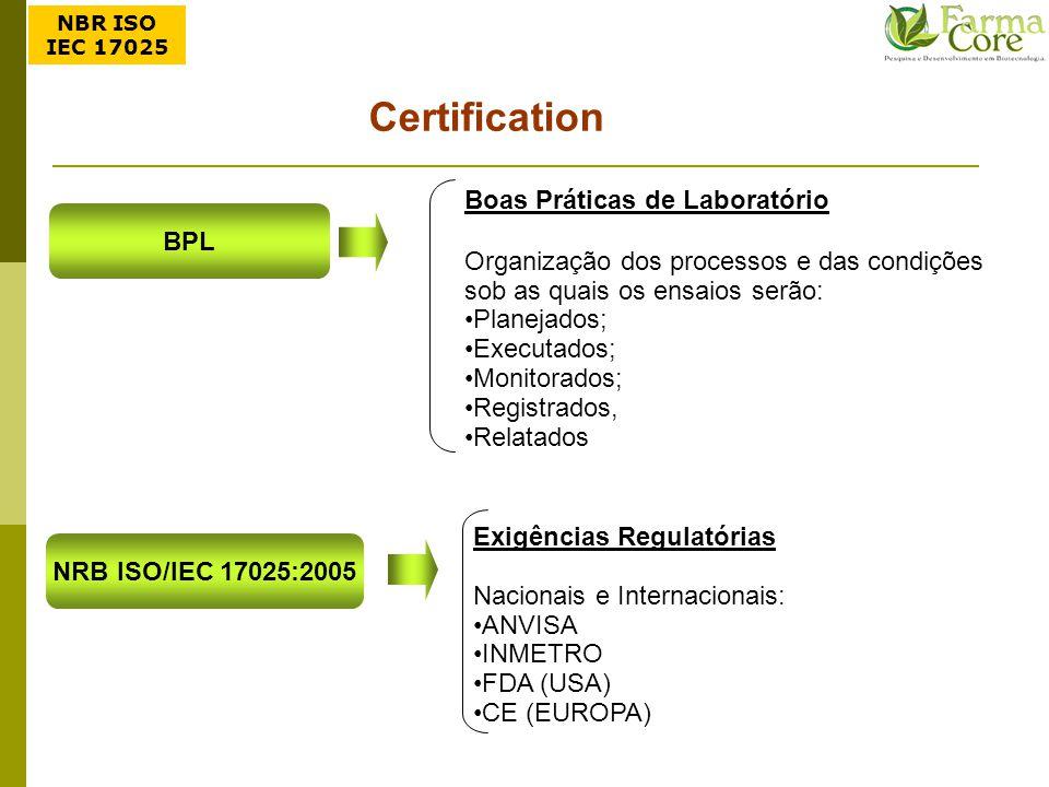 Certification Boas Práticas de Laboratório BPL