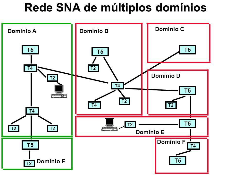 Rede SNA de múltiplos domínios