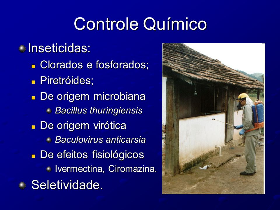 Controle Químico Inseticidas: Seletividade. Clorados e fosforados;