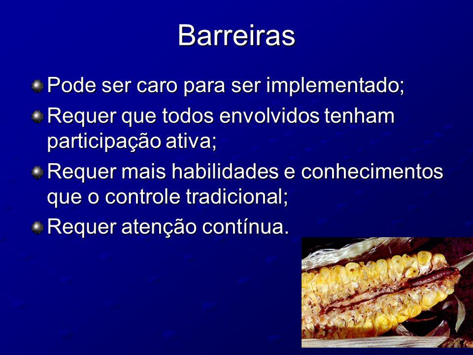 Barreiras Pode ser caro para ser implementado;