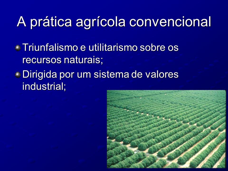 A prática agrícola convencional