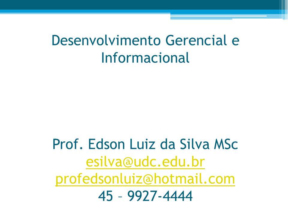 Desenvolvimento Gerencial e Informacional Prof