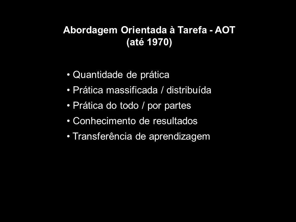 Abordagem Orientada à Tarefa - AOT (até 1970)