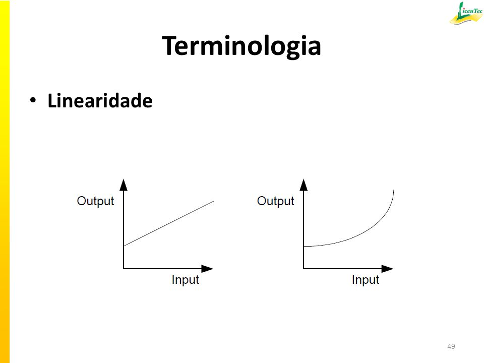 Terminologia Linearidade