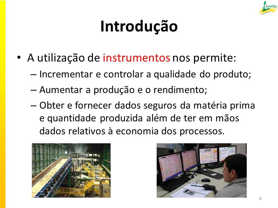 Introdução A utilização de instrumentos nos permite: