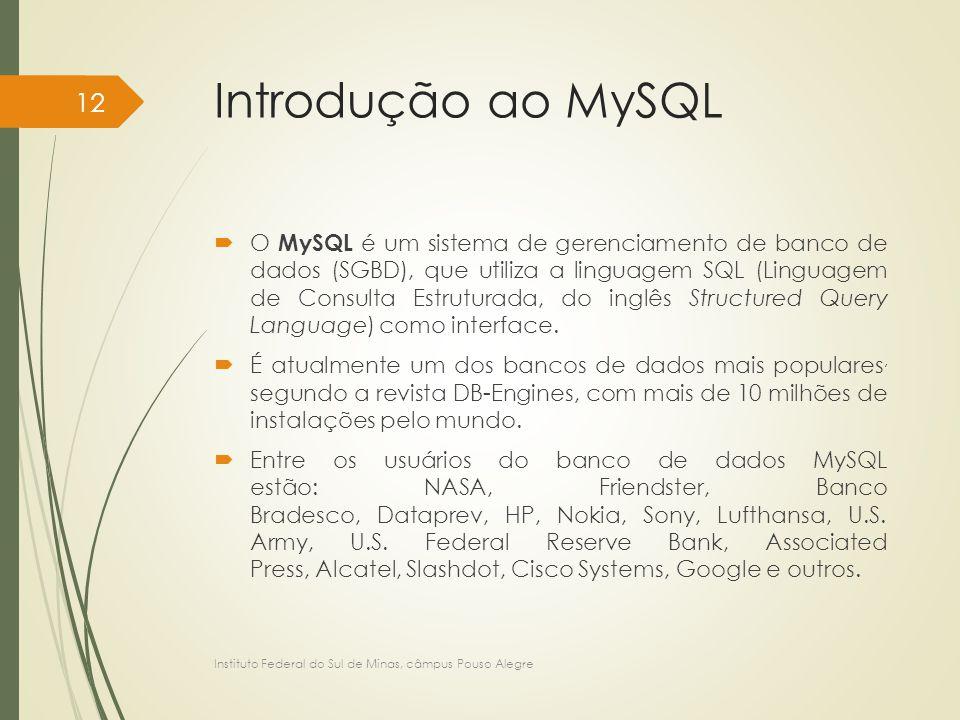 Introdução ao MySQL