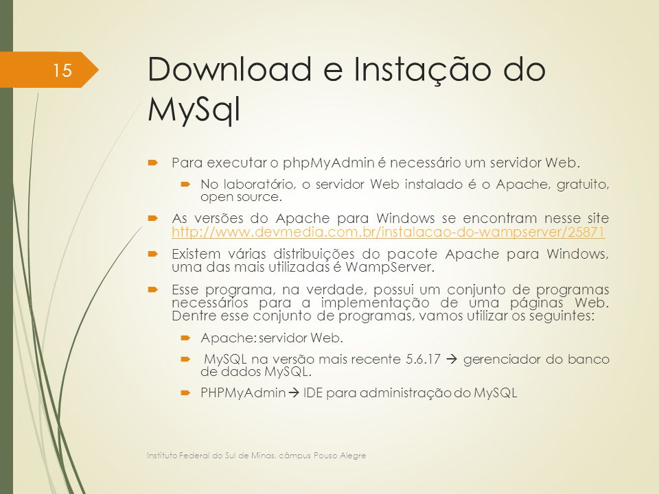 Download e Instação do MySql