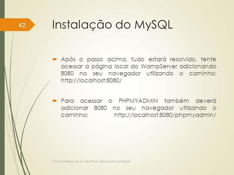 Instalação do MySQL