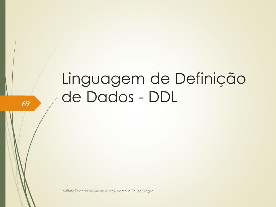 Linguagem de Definição de Dados - DDL