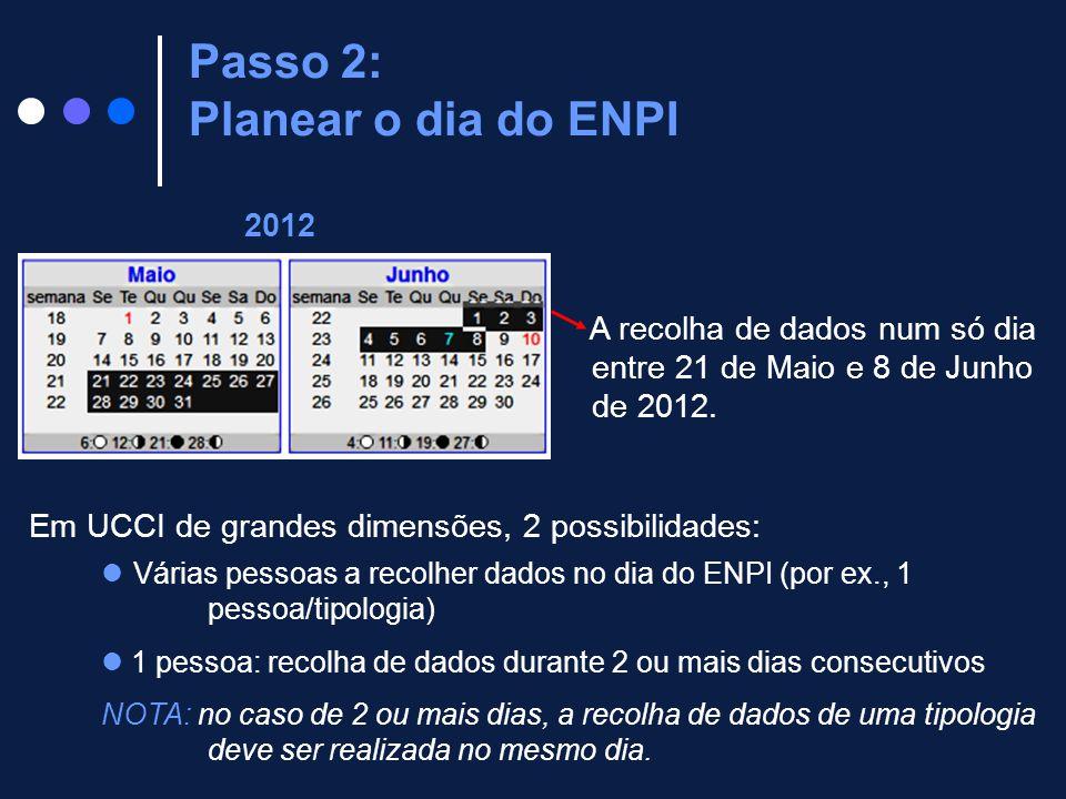 Passo 2: Planear o dia do ENPI