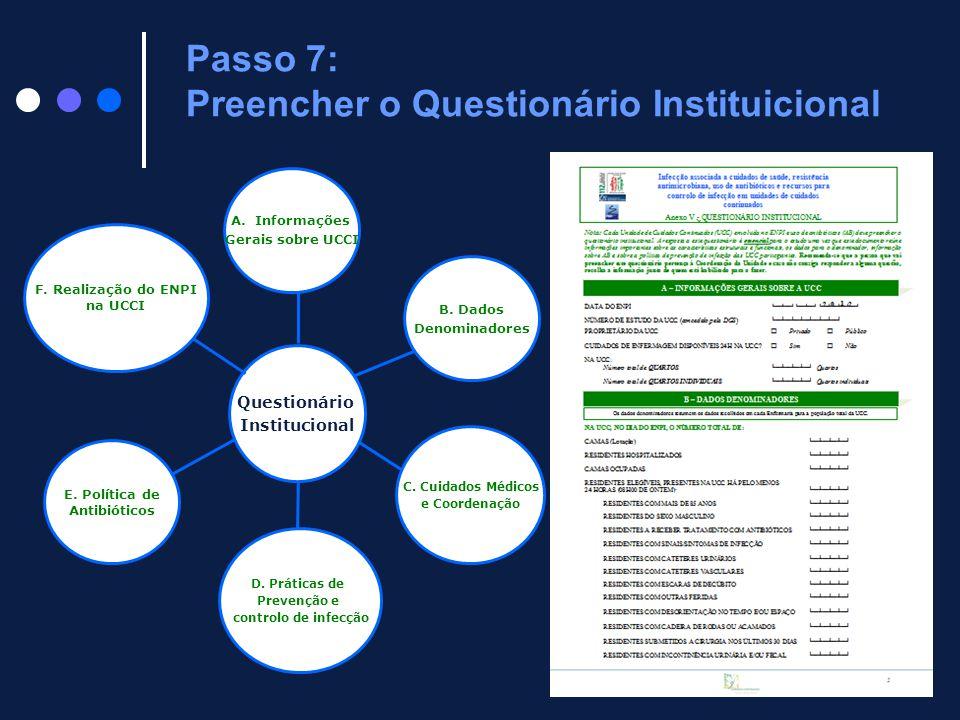 Passo 7: Preencher o Questionário Instituicional