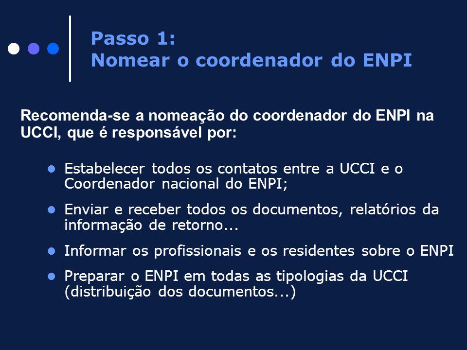 Passo 1: Nomear o coordenador do ENPI