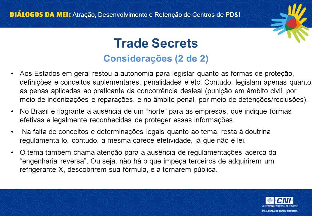 Trade Secrets Considerações (2 de 2)