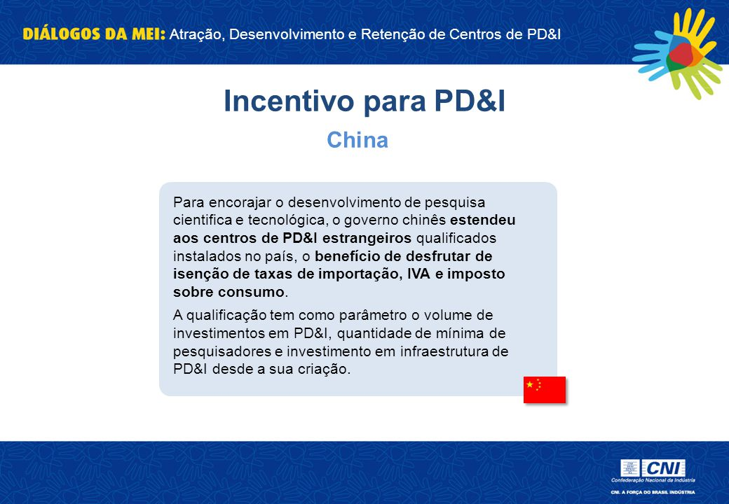 Incentivo para PD&I China