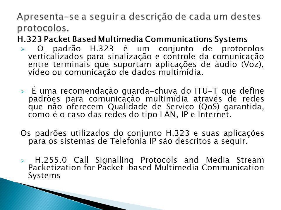 Apresenta-se a seguir a descrição de cada um destes protocolos.