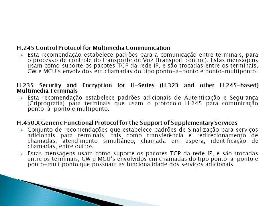H.245 Control Protocol for Multimedia Communication