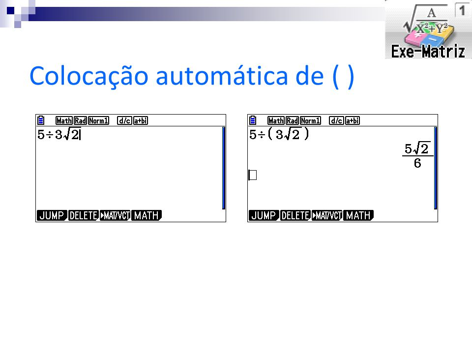Colocação automática de ( )