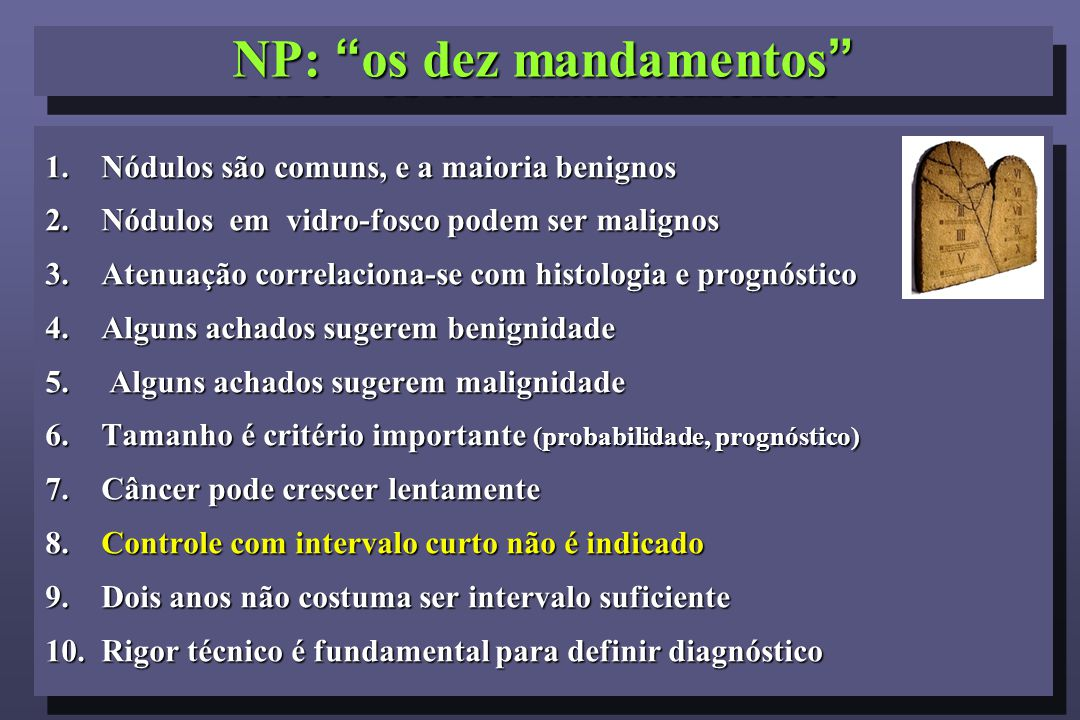 NP: os dez mandamentos