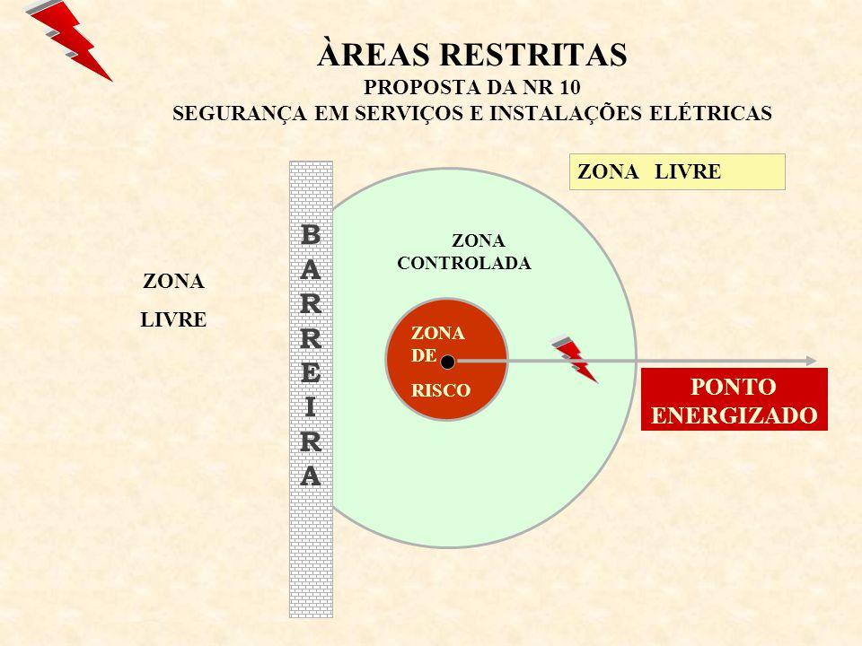 ÀREAS RESTRITAS PROPOSTA DA NR 10 SEGURANÇA EM SERVIÇOS E INSTALAÇÕES ELÉTRICAS