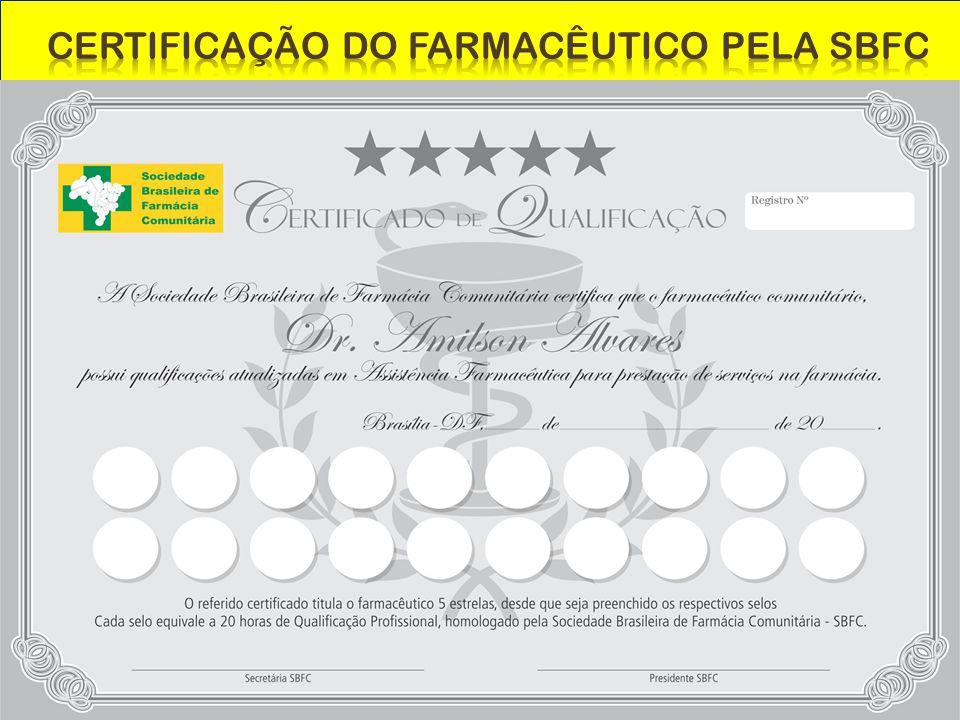 CERTIFICAÇÃO DO FARMACÊUTICO PELA SBFC