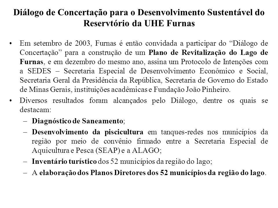 Diálogo de Concertação para o Desenvolvimento Sustentável do Reservtório da UHE Furnas