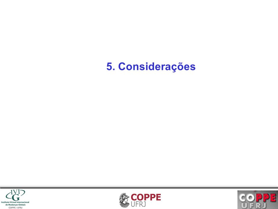 5. Considerações