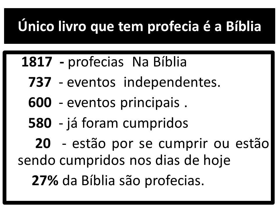 Único livro que tem profecia é a Bíblia