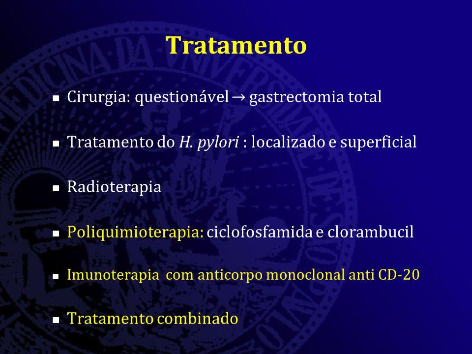 Tratamento Cirurgia: questionável → gastrectomia total