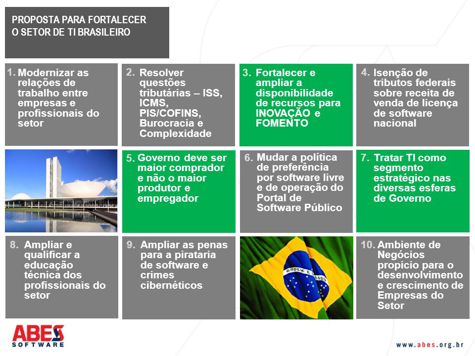 PROPOSTA PARA FORTALECER O SETOR DE TI BRASILEIRO