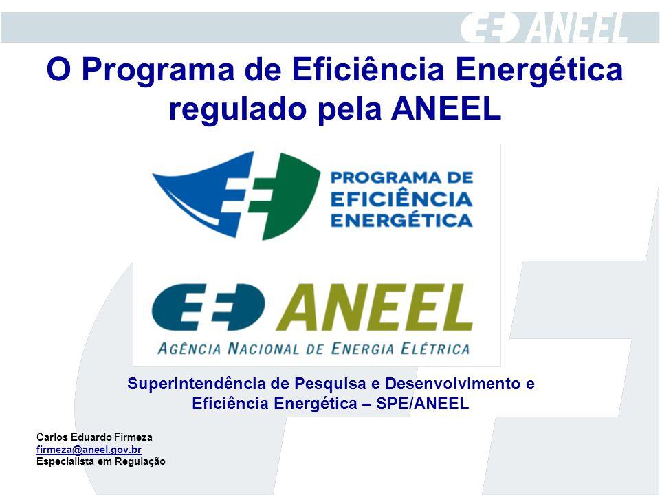 O Programa de Eficiência Energética regulado pela ANEEL