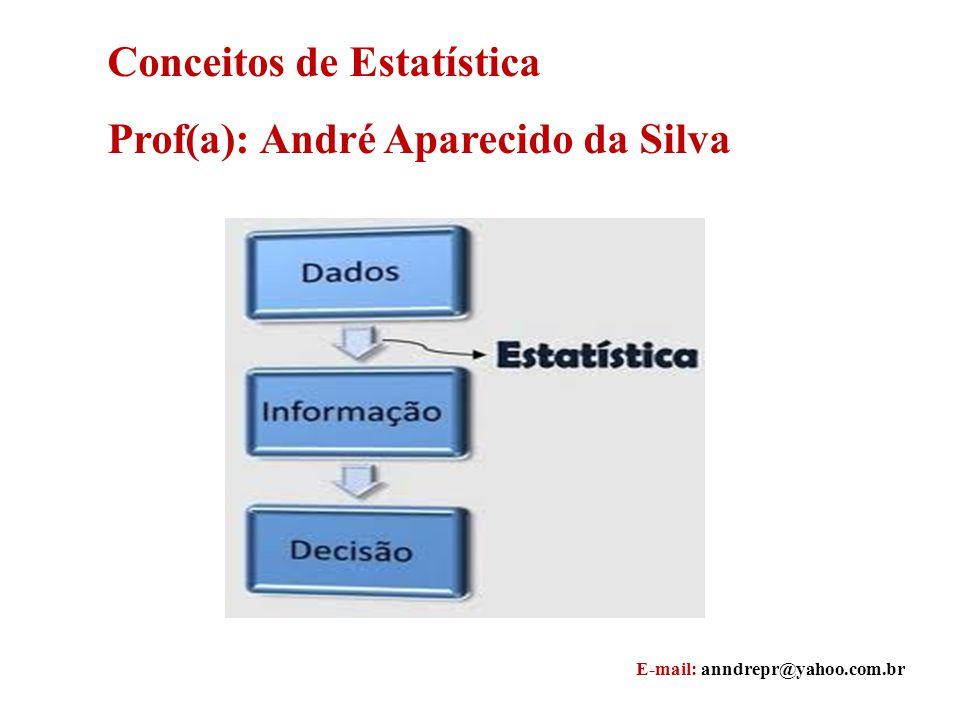 Conceitos de Estatística Prof(a): André Aparecido da Silva