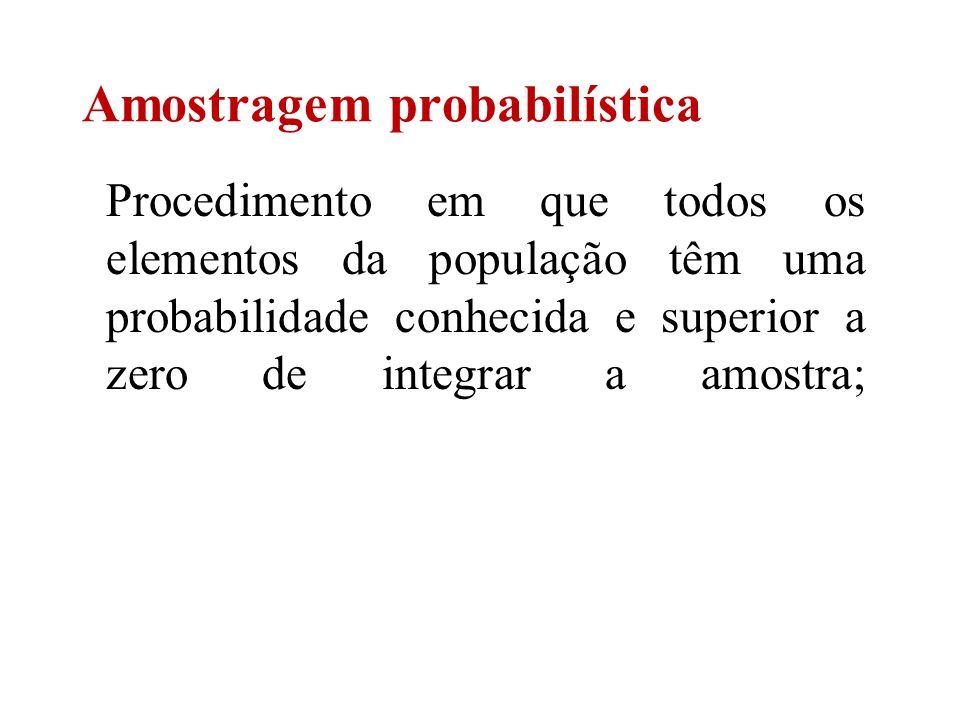 Amostragem probabilística