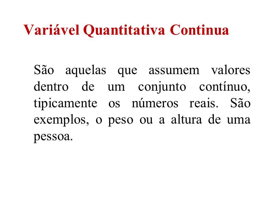 Variável Quantitativa Continua