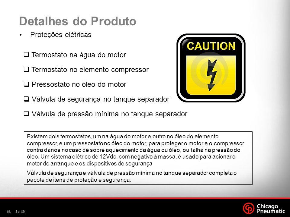 Detalhes do Produto Proteções elétricas Termostato na água do motor