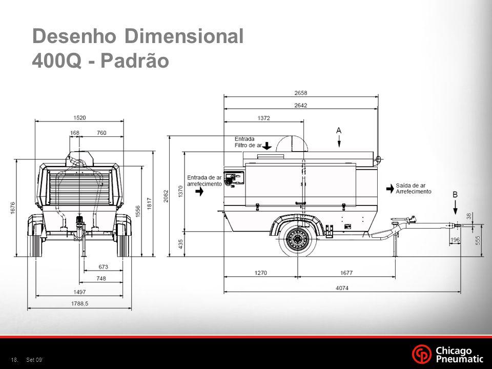 Desenho Dimensional 400Q - Padrão