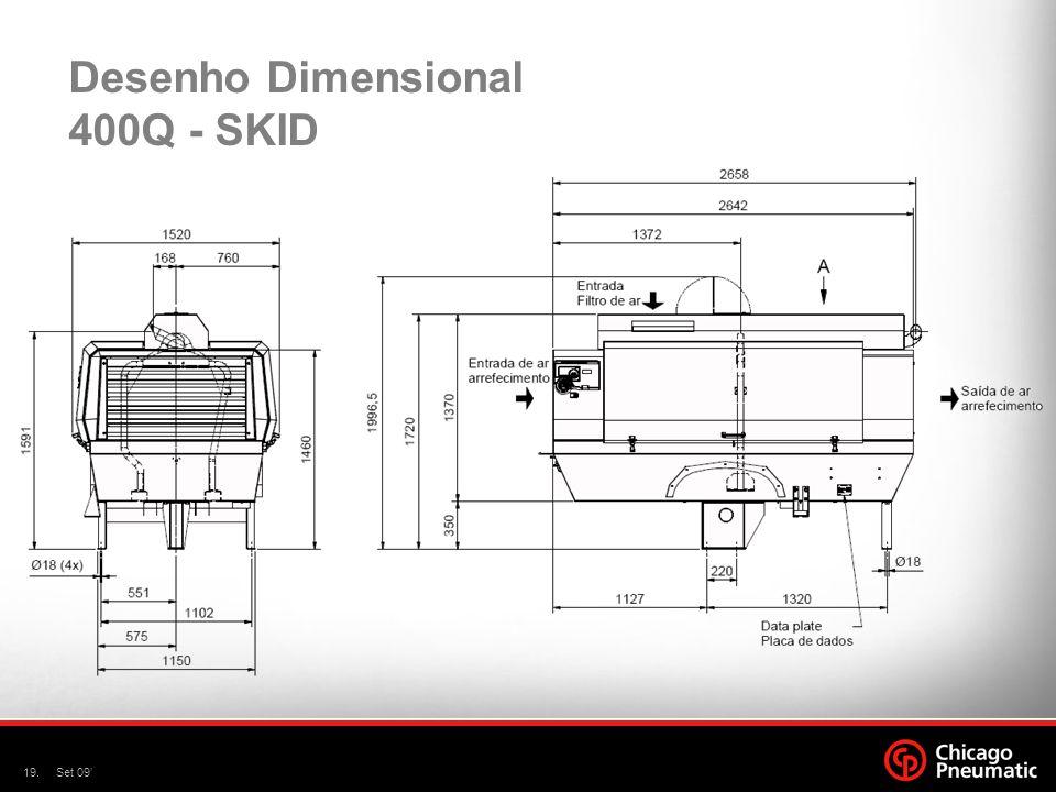 Desenho Dimensional 400Q - SKID
