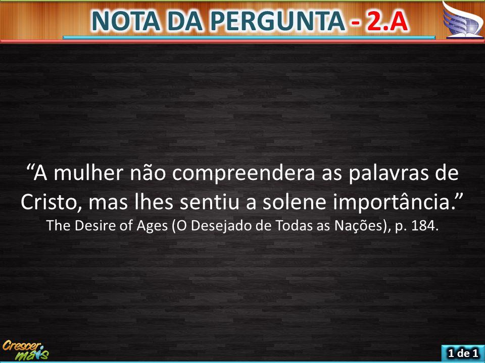 NOTA DA PERGUNTA - 2.A