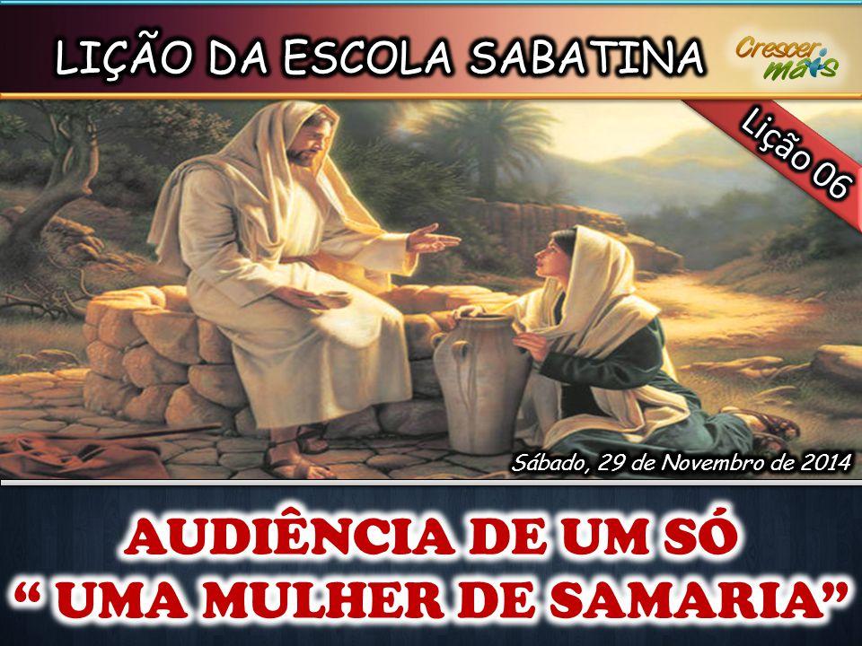 UMA MULHER DE SAMARIA