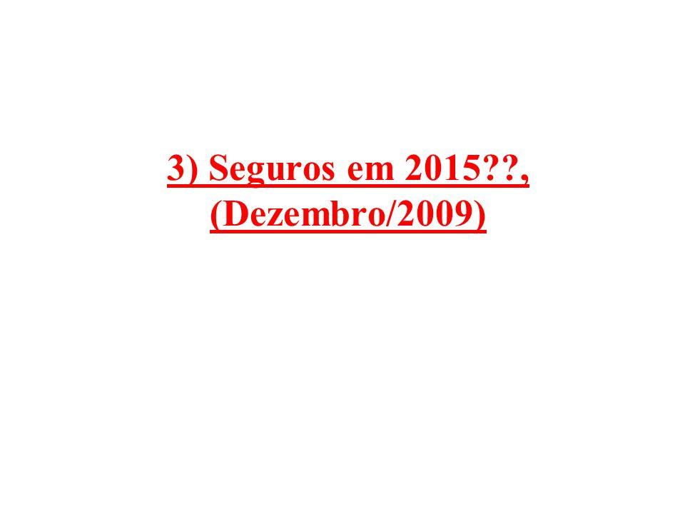 3) Seguros em 2015 , (Dezembro/2009)