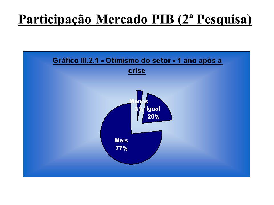 Participação Mercado PIB (2ª Pesquisa)