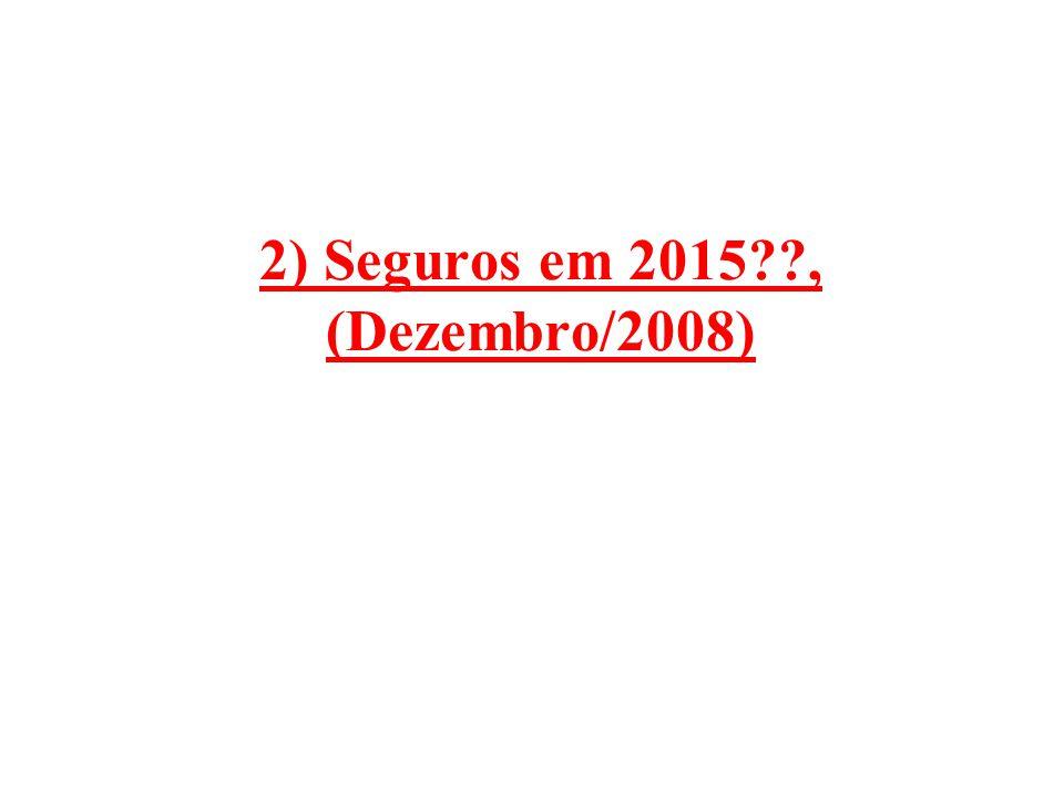 2) Seguros em 2015 , (Dezembro/2008)
